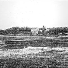 Camp de la rivière Bec-Scie, sur la pointe ouest de son embouchure (1908)