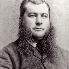 Alfred Malouin en 1890, gardien du phare de la pointe ouest. Photographie prise par J.E. Livernois