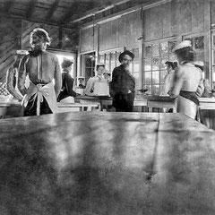 Fox Bay, salle de paquetage de la homarderie
