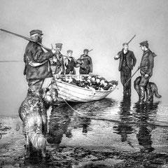 Le Dr. Schmitt et la famille Malouin, de retour de la chasse en mai 1899.