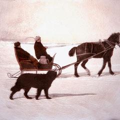 Baie Sainte-Claire, 1900. Ballade d'hiver