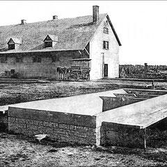 Réservoir - abreuvoir et écurie à la ferme St-Georges-(1908)