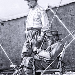 Georges Martin-Zédé et Henri Menier sur la Jupiter, juillet 1905