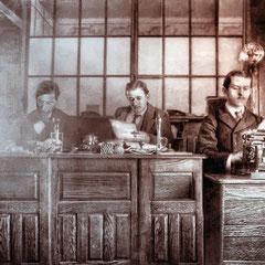 Au bureau en février 1902