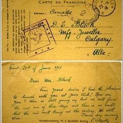 Le Bailly écrit du front 1 mois avant son décès sur le champ de bataille. Ces documents sont dans un fond du musée Glenbow, Calgary. Après Anticosti, Fernand devient importateur de pierres précieuses. Il est né à St-Pierre-sur-Dives, dans le Calvados.