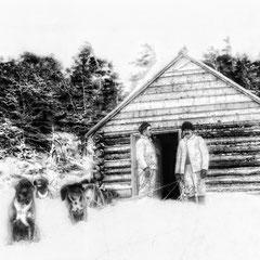 Camp de gardiens de territoire. Départ de Jupiter pour le sud-ouest, 1903