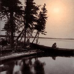 Île Anticosti, 1901, lac Plantin. Situé à environ douze milles de la Baie Ellis et au moins 50 pieds au-dessus de celle-ci.