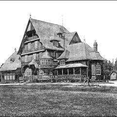 Villa ou château Menier - baie Ellis ou Gamache, vue du sud-est (1908)