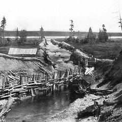 Dessèchement du lac de la Baie Ellis en 1901