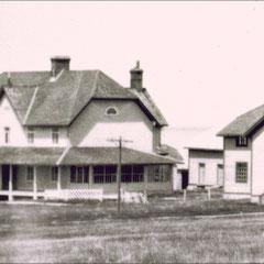 Baie Ste-Claire à l'abandon, 1930. La maison du gouverneur.
