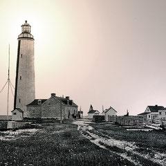 Phare de la pointe ouest en 1903. Construit en 1858. Par bonne visibilité, on pouvait voir ses feux à 25 km de distance