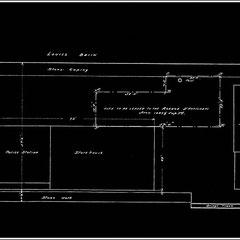 Plan datant de 1920 de l'emplacement de l'entrepot Anticosti au bassin Louise de Québec