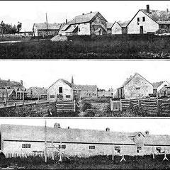 Ferme St-Georges. En haut, vue du sud; au milieu, vue de l'est; en bas, porcherie