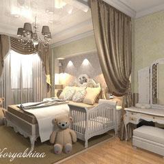 Дизайн спальни для семьи с ребенком