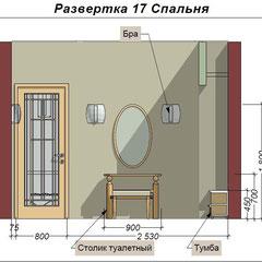 Развертка в дизайне спальни