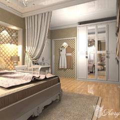 Гардероб в дизайне спальни