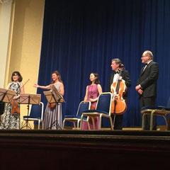 """Uraufführung """"Der Vogelsang"""" im Großen Mozartsaal / Moorweide Hamburg mit Jan Philipp Reemtsma und dem Kizuna Quartett"""