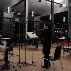 """Aufnahmesession für """"Acht Blicke auf Mondenschein"""" mit Mitsuru Shiogai"""