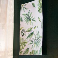 Plakat und Wanddeko auf der  Hochzeit am Kinzigheimer Hof in Bruchköbel.