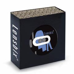 Lensbix b l a u  / Kontaktlinsenbehälter / Kontaktlinsenbox / Box für Kontaktlinsenaufbewahrung  / in Geschenkverpackung / Kontaktlinsen-behaelter