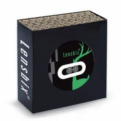 Lensbix g r ü n /  Kontaktlinsenbehälter / Kontaktlinsenbox / Box für Kontaktlinsenaufbewahrung  / in Geschenkverpackung