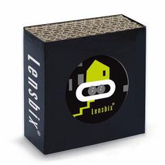 Lensbix k i w i /  Kontaktlinsenbehälter / Kontaktlinsenbox / Box für Kontaktlinsenaufbewahrung  / in Geschenkverpackung