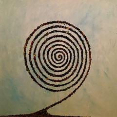 Spirale - Öl auf Leinwand - 100 x 100 - EUR 500