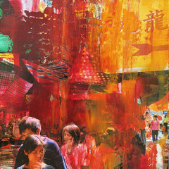 Hong Kong - oil on photo paper - 20 x 15 - EUR 270