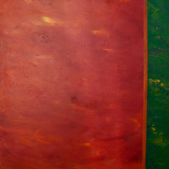 Studie in Rot / Grün - Öl auf Leinwand - 120 x 100 - EUR 500