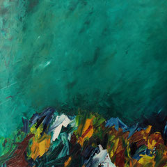 Wilder Bach - Öl auf Leinwand - 30 x 130 - EUR 800