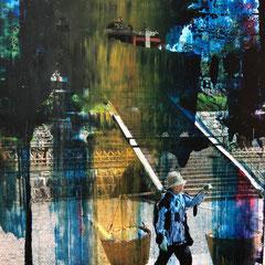 Kyoto - Öl auf Fotopapier - 20 x 18 - im Privatbesitz