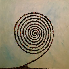 Spiral - oil on canvas - 100 x 100 - EUR 900