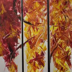 Dynamic - oil on canvas - 2005 - je 120 x 20 - EUR 800