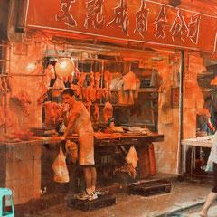 Hong Kong - Öl auf Fotopapier - 15 x 20 - EUR 270