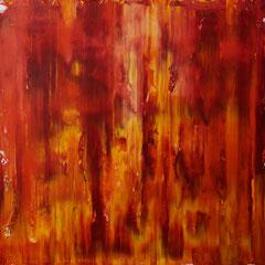 Studie in Rot - Öl auf Leinwand - 50 x 50 - EUR 250