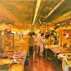 Hong Kong - oil on photo paper - 15 x 20 - EUR 270