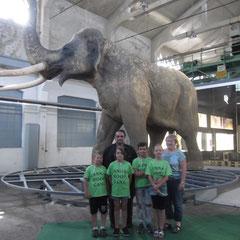 Wir vor dem Waldelefanten