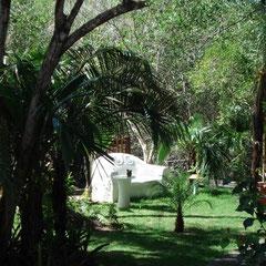 Jardim sofà de cimento - Garten mit Zementsofa - Garden with cementcouch