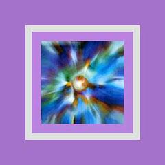 Nr. 14/11 Farbstrahlen  Airbrush auf Spezialpapier Fin Art 50x50 cm inkl. Karton-Passepartout, Glas,Metallrahmen Bronze eluxiert inkl.Rückwand  € 270,-  |