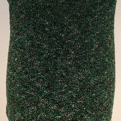 #507 Rock türkisschwarzweiss-Noppen. Umfang 70 cm, Länge 39 cm. 30% Baumwolle, 21% Viskose, 10% Leinen, 20% Polyacryl, 19% Polyamid     135,-€