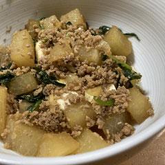 Taiwanese lu rou fan with daikon and tofu/大根・豆腐入りの魯肉飯