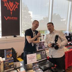 Patrick Nevian und Frank Erstling. Sonderfolge #14 des Männerquatsch Podcast mit Berichten und Interviews von der Amiga 34 in Neuss