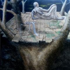 """""""Auszeit"""", Acryl-/Ölmalerei, Serie """"frei wild"""", Leinwand 120 x 80 cm"""