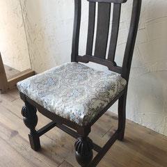 椅子張替え修理後アンティークチェアー