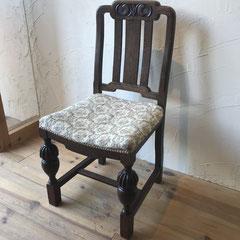 椅子張替え修理前アンティークチェアー
