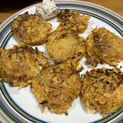 butternut squash fritters/バターナッツかぼちゃのフリッター