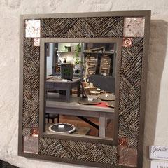 Miroir Mosaïque chevrons de Lauze, Emaux