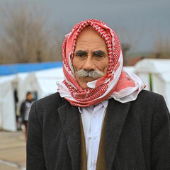 Bildunterschrift alter Kurde