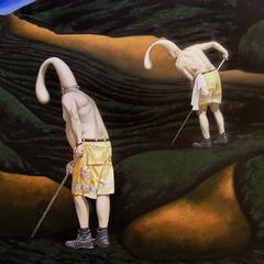 Die Wiederkehrer, 2019, Oil on Canvas, 100 x 120 cm