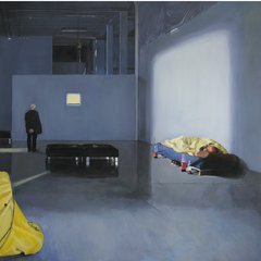 Sans titre 2014 Huile sur toile  168 x 168,5 cm 2014 Collection privée